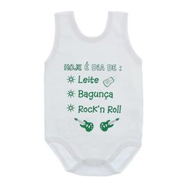 Imagem - Body de Bebê Regata Unissex com Frases - 10075-body-regata-rockinroll-verde