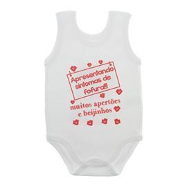 Imagem - Body de Bebê Regata Unissex com Frases - 10075-body-regata-fofura-vermelho