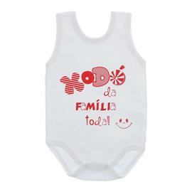 Imagem - Body de Bebê Regata Unissex com Frases - 10075-body-regata-xodo-familia-verm