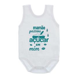 Imagem - Body de Bebê Regata Unissex Frases  - 10075-body-regata-acucar-verde