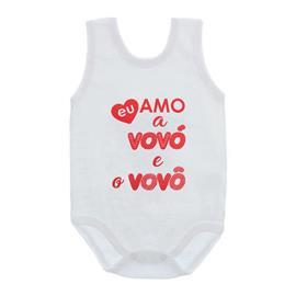 Imagem - Body de Bebê Regata Unissex Frases  - 10075-body-regata-amo-avos-vermelho