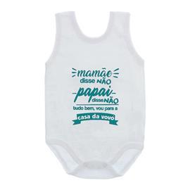 Imagem - Body de Bebê Regata Unissex Frases  - 10075-body-regata-casa-vovo-verde-1