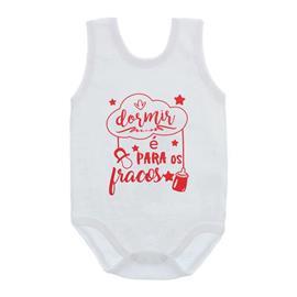 Imagem - Body de Bebê Regata Unissex Frases  - 10075-body-regata-dormir-vermelho
