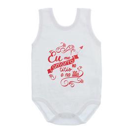 Imagem - Body de Bebê Regata Unissex Frases  - 10075-body-regata-amarro-titio-verm