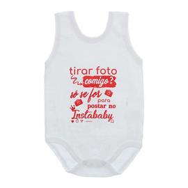 Imagem - Body de Bebê Regata Unissex Frases  - 10075-body-regata-instababy-vermelh