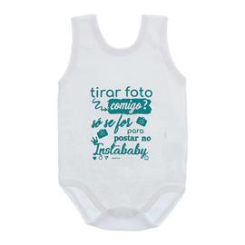 Imagem - Body de Bebê Regata Unissex Frases  - 10075-body-regata-instababy-verde