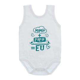 Imagem - Body de Bebê Regata Unissex Frases  - 10075-body-regata-mamae+papai-verde