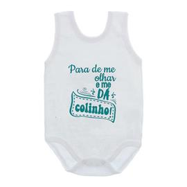 Imagem - Body de Bebê Regata Unissex Frases  - 10075-body-regata-me-da-colinho-ver