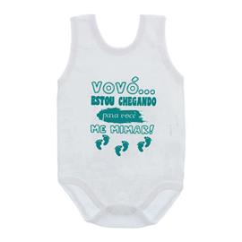 Imagem - Body de Bebê Regata Unissex Frases  - 10075-body-regata-vovo-mimar-verde