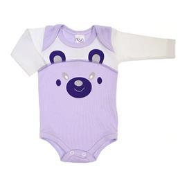 Imagem - Body Bebê Manga Longa Bear - 7073-body-bebe-ml-bear-lilas
