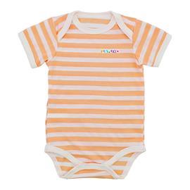Imagem - Body de Bebê de Malha Lapuko - 9937-body-listrado-m-curta-salmão