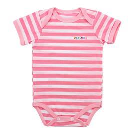 Imagem - Body de Bebê de Malha Lapuko - 9937-body-listrado-m-curta-rosa