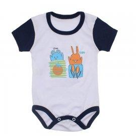 Imagem - Body Bebê Malha Canelada Estampado - 10233-body-mc-menino-one-two
