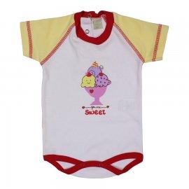 Imagem - Body para Bebê Manga Curta Sweet   - 6018 - Branco