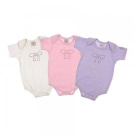 Imagem - Body Bebê com Strass Korte Rekorte kit 3 peças - 5729 - Laço 1