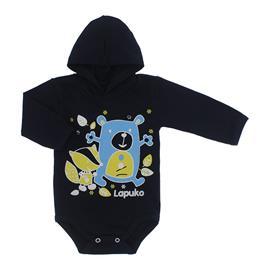 Imagem - Body para Bebê com Capuz de Ribana  - 10054-body-capuz-marinho-amigos