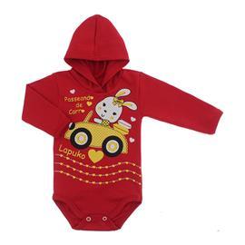 Imagem - Body para Bebê com Capuz de Ribana  - 10055-body-capuz-vermelho-bebe-carr