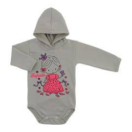 Imagem - Body para Bebê com Capuz de Ribana  - 10055-body-capuz-bege-bebe-princ