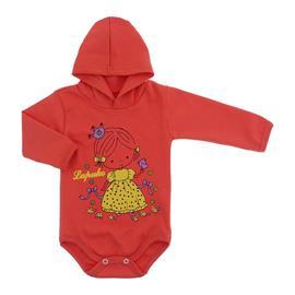 Imagem - Body para Bebê com Capuz de Ribana  - 10055-body-capuz-laranja-bebe-princ