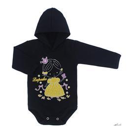 Imagem - Body para Bebê com Capuz de Ribana  - 10055-body-capuz-marinho-bebe-princ