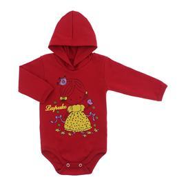 Imagem - Body para Bebê com Capuz de Ribana  - 10055-body-capuz-vermelho-bebe-prin