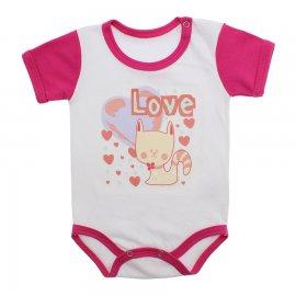 Imagem - Body Bebê Menina Lapuko - 9964-body-mc-gata-love-pink