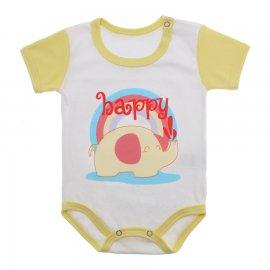 Imagem - Body Bebê Menina Lapuko - 9964-body-mc-elefante-happy-amarelo