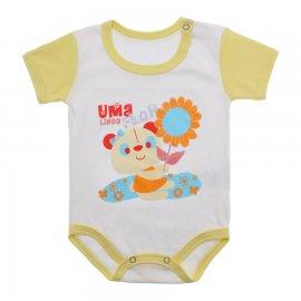 Imagem - Body Bebê Menina Lapuko - 9964-body-mc-linda-flor-amarelo