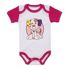 Imagem - Body para Bebê Menina Mangas Coloridas - 9964-body-mc-colorida-pink-cachorri