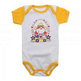 Imagem - Body Bebê Menina Lapuko - 9964-body-mc-florista-amarelo-ouro