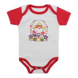 Imagem - Body para Bebê Menina Mangas Coloridas - 9964-body-mc-florista-vermelho