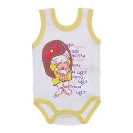 Imagem - Body para Bebê Menina Regata  - 10046-body-regata-menina-bco-amarel