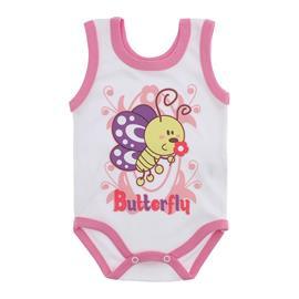 Imagem - Body para Bebê Menina Regata  - 10046-body-regata-menina-bco-chicle