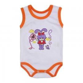 Imagem - Body para Bebê Menina Regata  - 10046-body-regata-bco-laranja