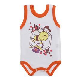 Imagem - Body para Bebê Menina Regata  - 10046-body-regata-menina-bco-laranj