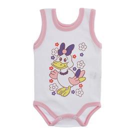 Imagem - Body para Bebê Menina Regata  - 10046-body-regata-menina-bco-rosa-b
