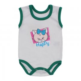 Imagem - Body para Bebê Menina Regata  - 10046-body-regata-bco-verde