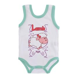 Imagem - Body para Bebê Menina Regata  - 10046-body-regata-menina-bco-verde