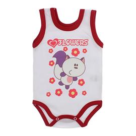 Imagem - Body para Bebê Menina Regata  - 10046-body-regata-menina-bco-vermel