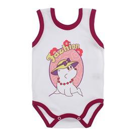 Imagem - Body para Bebê Menina Regata  - 10046-body-regata-menina-bco-vinho
