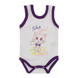 Imagem - Body para Bebê Menina Regata  - 10046-body-regata-menina-bco-roxo