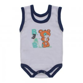 Imagem - Body para Bebê Menino Regata  - 10047-body-regata-menino-azul-mescl