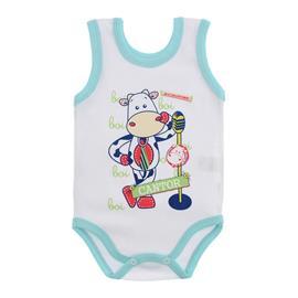 Imagem - Body para Bebê Menino Regata  - 10047-body-regata-bco-azul-bebe-can