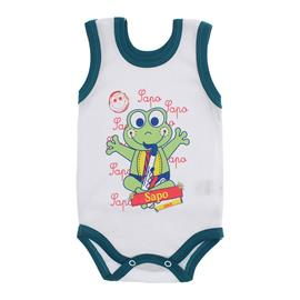 Imagem - Body para Bebê Menino Regata  - 10047-body-regata-bco-jade-