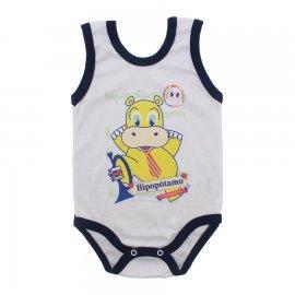 Imagem - Body para Bebê Menino Regata  - 10047-body-regata-bco-marinho