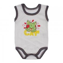 Imagem - Body para Bebê Menino Regata  - 10047-body-regata-mno-bco-marrom-me