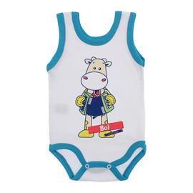Imagem - Body para Bebê Menino Regata  - 10047-body-regata-menino-bco-turque