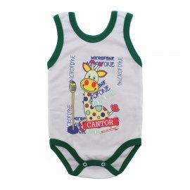 Imagem - Body para Bebê Menino Regata  - 10047-body-regata-bco-verde-escuro