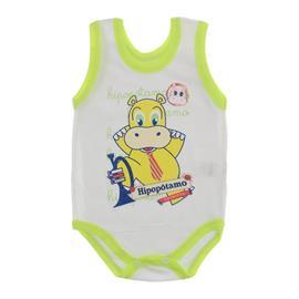 Imagem - Body para Bebê Menino Regata  - 10047-body-regata-menino-bco-verde-