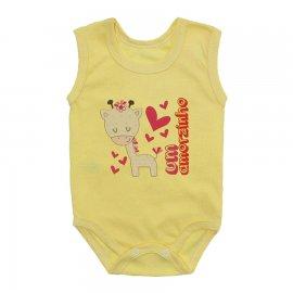 Imagem - Body Bebê Regata Estampado Lapuko - 10225-body-regata-amorzinho-amarelo